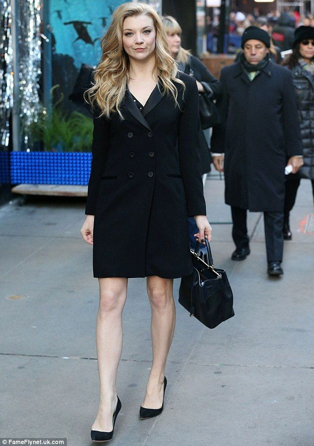 Aren't you cold? Natalie Dormer showed off her bare legs as she strutted to ABC's Good Mor...