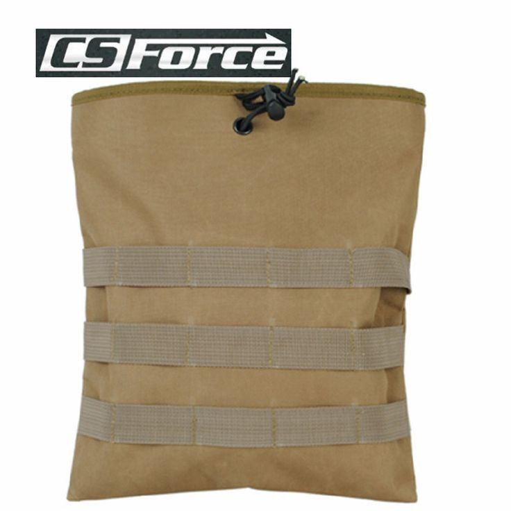 Airsoft Hunting Molle Magazine Dump Drop Pouch Tactical Military EDC Bag Army Paintball Vest Accessory Drop Pouch Bag with Belt