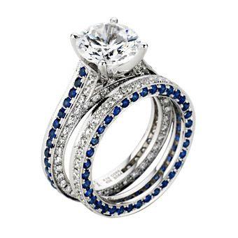 25+ best ideas about Sapphire wedding sets on Pinterest | Sapphire ...