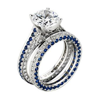25 best ideas about sapphire wedding bands on pinterest sapphire wedding rings big diamond wedding rings and 3 wedding bands - Sapphire Wedding Ring Sets