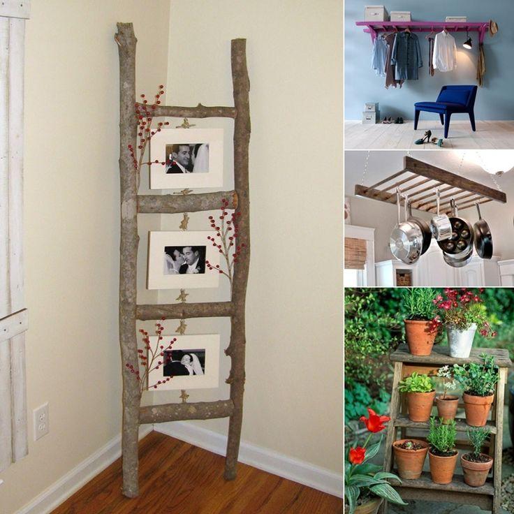 13 Ingenious Ladder Use and Decoration Ideas  - http://www.amazinginteriordesign.com/13-ingenious-ladder-use-decoration-ideas/