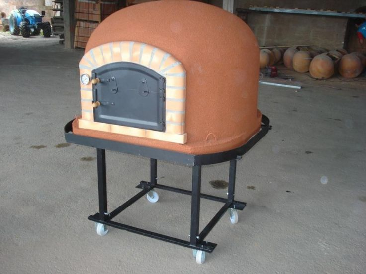 Insulated Wood Fired Clay Pizza Oven, Made In Portugal