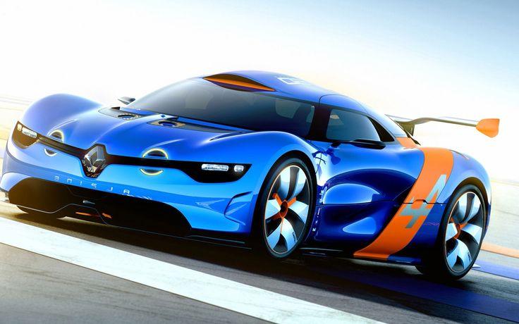 Blue+Sports+Car | Renault Alpine Blue Sports Car