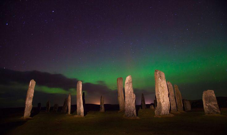 Auroras Boreales al norte de Escocia