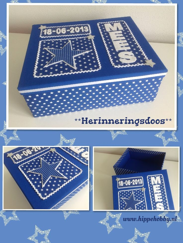 Memoriebox  Voor de één een herinnering van een mooie gebeurtenis en voor de ander een steun bij de verwerking van verdriet. www.hippehobby.nl