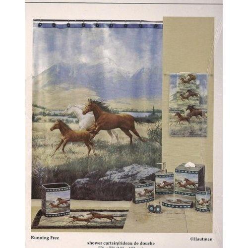 NEW Running Free Horses Hautman Shower Curtain | Free horses ...