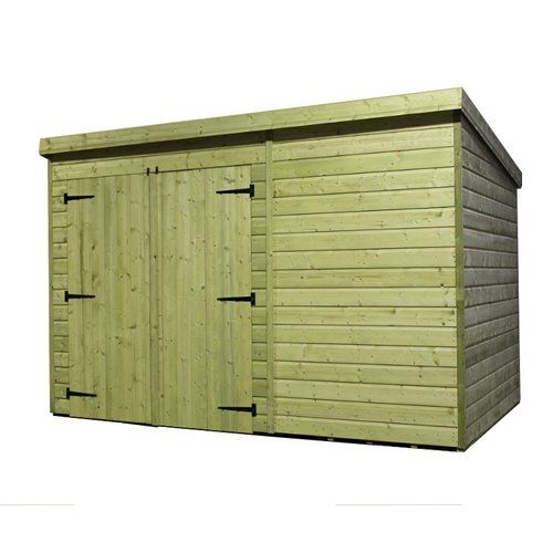 Wfx Utility 14 Ft W X 7 Ft D Shiplap Pent Wooden Shed Wooden Sheds Shiplap Shed