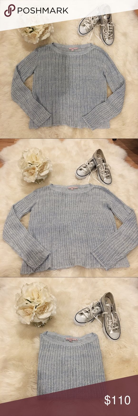Calypso St. Barth Blue Knit Sweater. Soft light blue color, and in excellent condition. Really nice with white jeans. Can be layered, and dressed up with wedges and jeans or down with shorts or a skirt. Calypso St. Barth Sweaters Crew & Scoop Necks