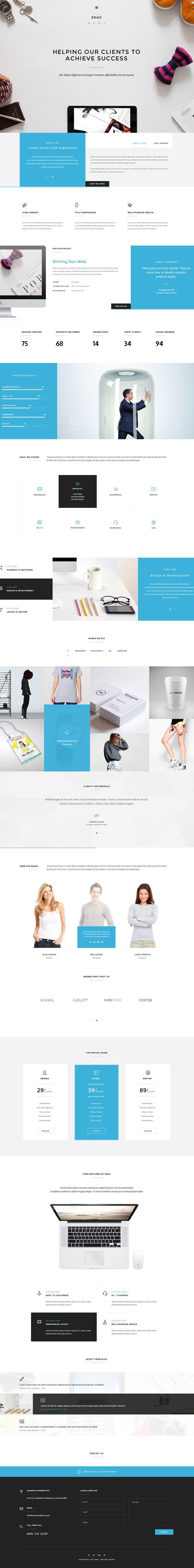 Enax - A Stylish and Modern Corporate Theme #html5wordpressthemes #responsivedesign #wordpressthemes