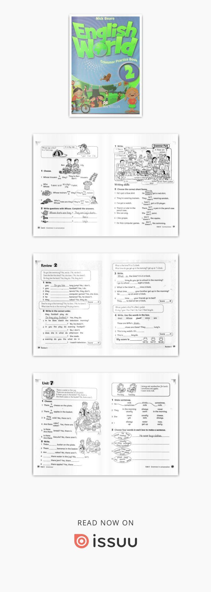 English World 2 Grammar Practice Book Grammar Practice English Lessons Learn English Grammar [ 2061 x 736 Pixel ]