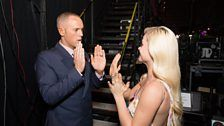 A quick game of Pat-a-Cake for Judge Rinder and Oksana