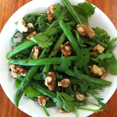 Thai inspired detox salad teamed with a cup of SlimBliss   Rocket, spinach, green beans, coriander, walnuts and a metabolism boosting coco...