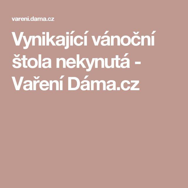 Vynikající vánoční štola nekynutá - Vaření Dáma.cz