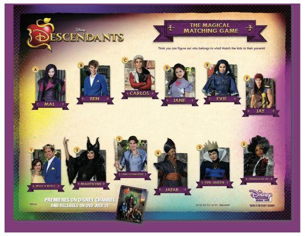 Free Disney Descendants Magical Matching Game Printable