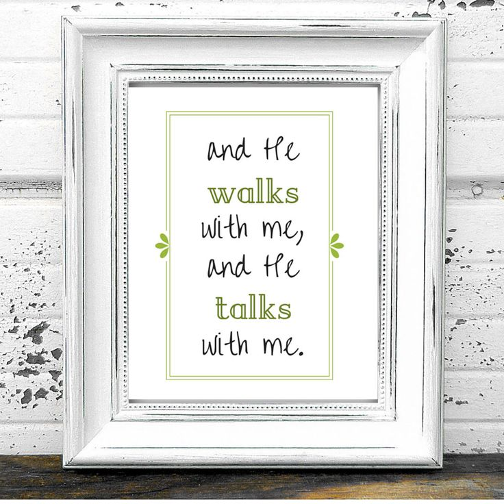 In the Garden Printable Hymn Quote- Digital Download And He Walks With Me, And He Talks With Me by TheHymnShoppe on Etsy https://www.etsy.com/listing/244443983/in-the-garden-printable-hymn-quote