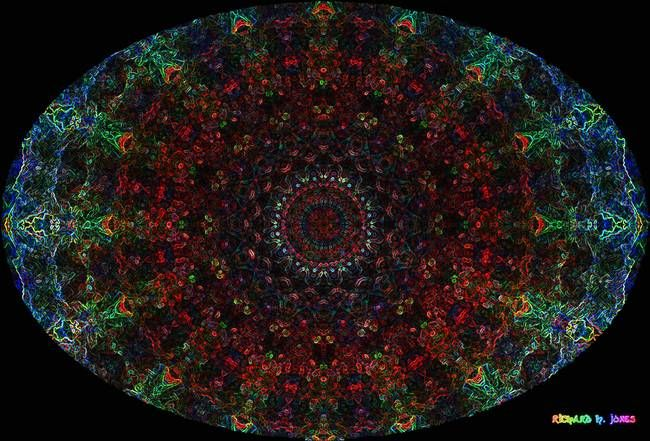 "Stunning ""Bismuth Crystal Oval Mandala"" Artwork For Sale on Fine Art Prints"