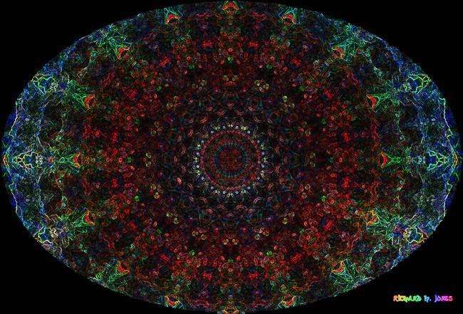 """Stunning """"Bismuth Crystal Oval Mandala"""" Artwork For Sale on Fine Art Prints"""