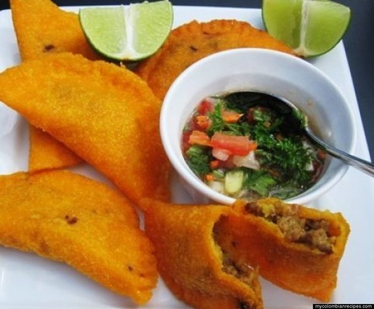 My favorite... Colombian Empanadas, or patties :) They're fried and you can stuff them with cheese, chicken, meat, mushrooms, or other yummy things. Belle, you'll love these!