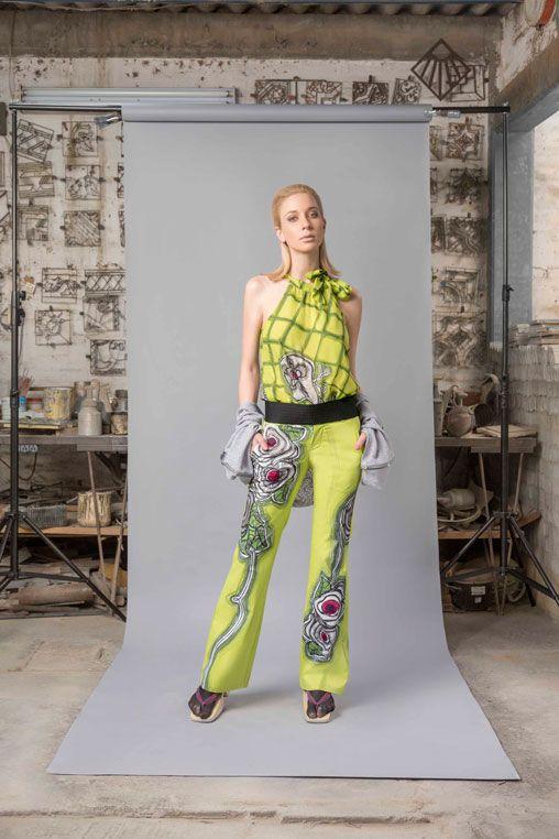 Blusa Gaga+Pantalón Toledo-#pintadoamano #soycroquis #soyunico #comerciojusto #tallercroquismodailustrada