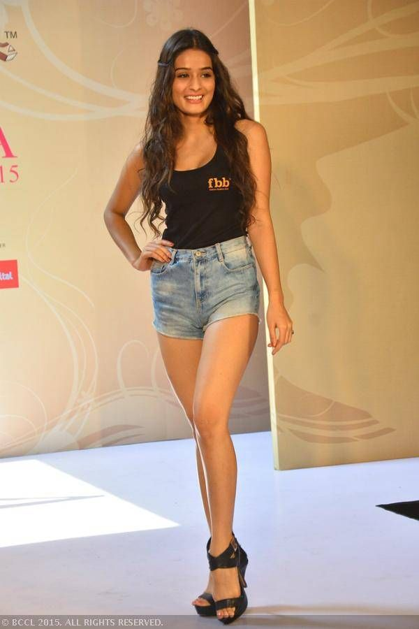 Femina Miss India 2015 finalist, Rushali Rai during the Olivia Miss ...