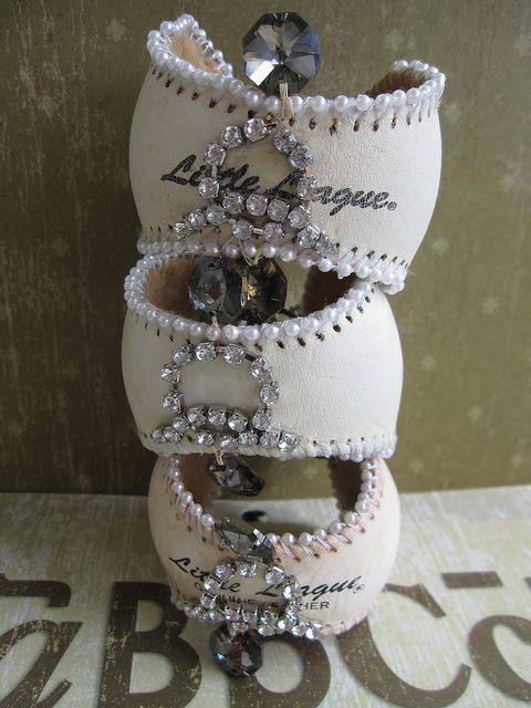 baseball cuffs- for the fashionable t-ball mom!