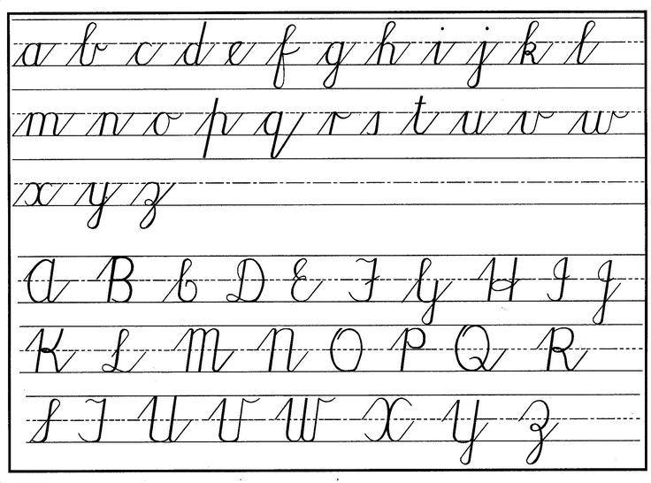 palmer alphabet chart Teaching cursive, Cursive writing