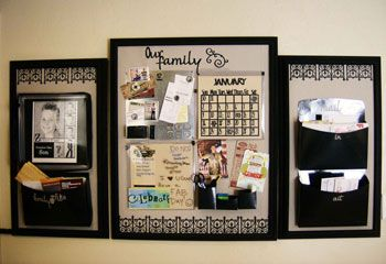 Diy wall command center... just as cool as those spendy ones at pottery barn!
