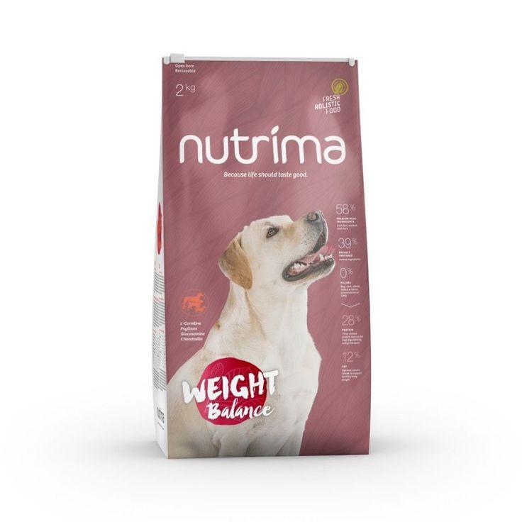Nutrima Weight Balance -koiranruoka ylipanoisille, steriloiduille ja ikääntyville koirille.