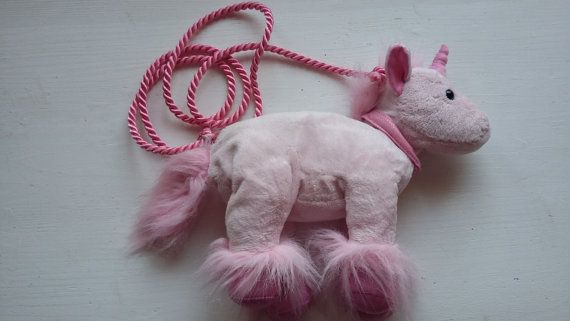 Woman Unicorn Bag / Cute Unicorn Purse / Little Unicorn Girls Bag / Pink Unicorn Shoulder bag / Mini Unicorn Crossbody bag/ Plush Pony Case