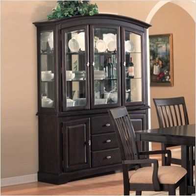 Coaster Monaco China Cabinet With Doors And Drawers In Rich Dark Cappuccino