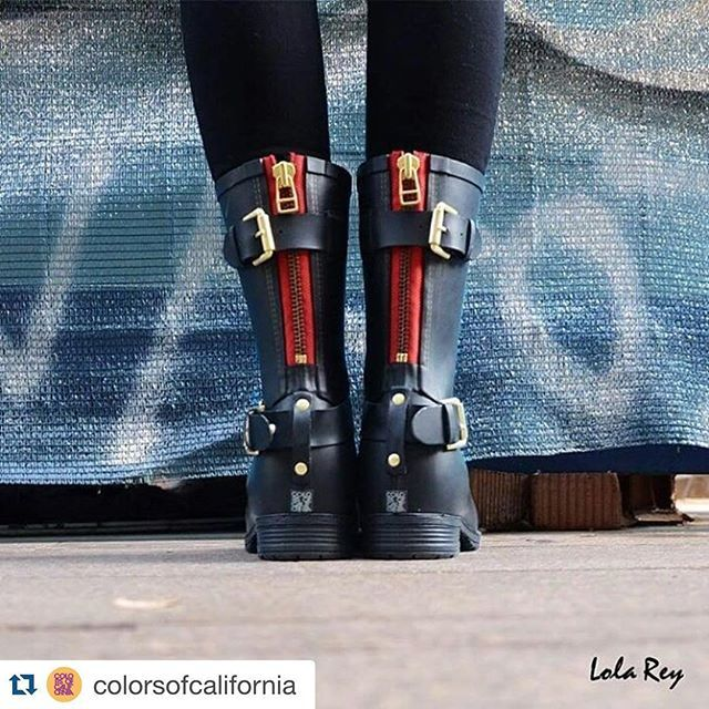 Rainboots by @colorsofcalifornia € 69,30 Buy now on www.shopviaroma1.com #colorsofcalifornia #rainboots #boots #fashion #women #style