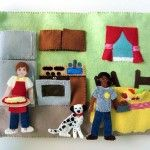 Felt Fire Station – Kitchen! Another amazing page FREE by Imagine our Life! What little fireman or firewoman wouldn't love this!? Part of an interactive fire station series!