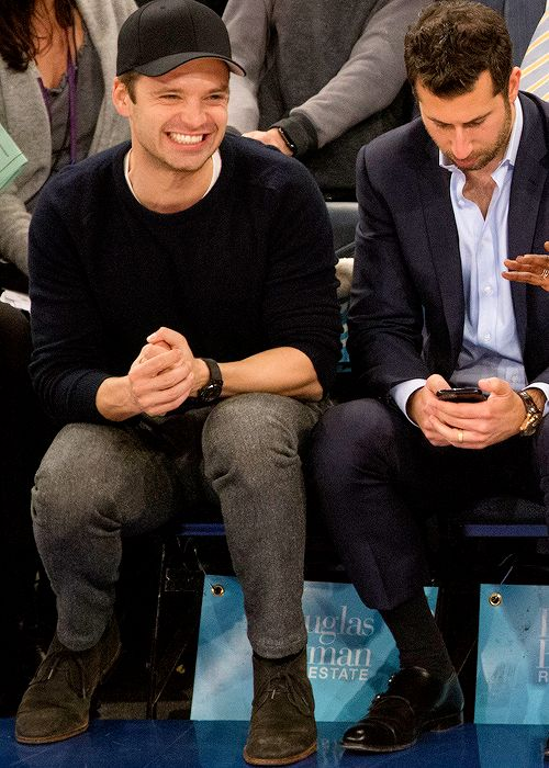 Sebastian at the Blazers/Knicks game on November 22th 2016.