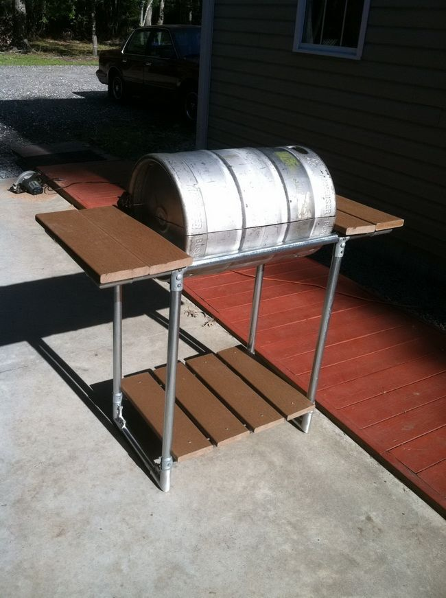 How to make a stainless steel grill from a common beer keg easy diy