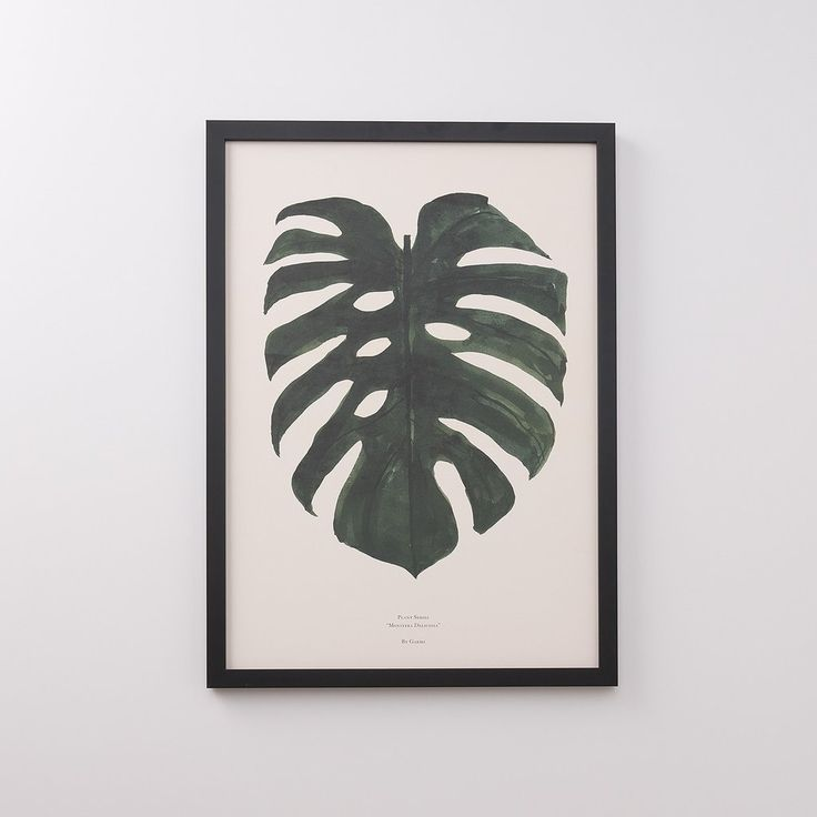 Split leaf print