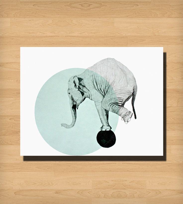 Elephant Print | Art Prints | Morgan Kendall Art | Scoutmob Shoppe | Product Detail