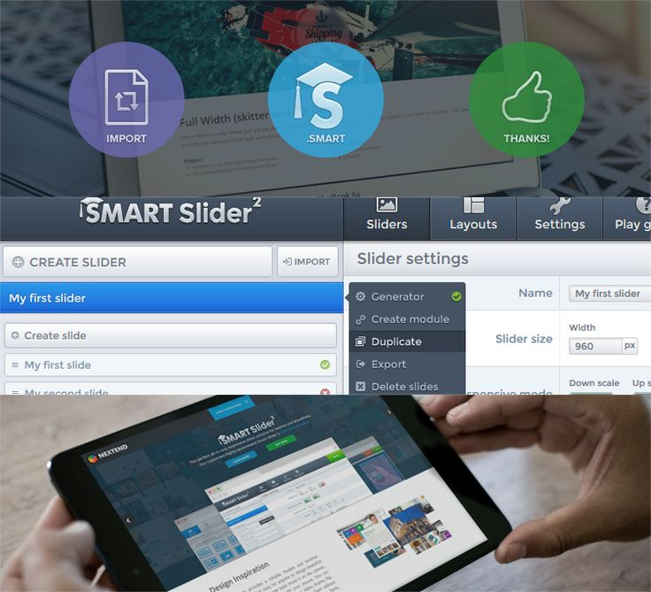 Joomla extensions - Nextend - smart slider 2