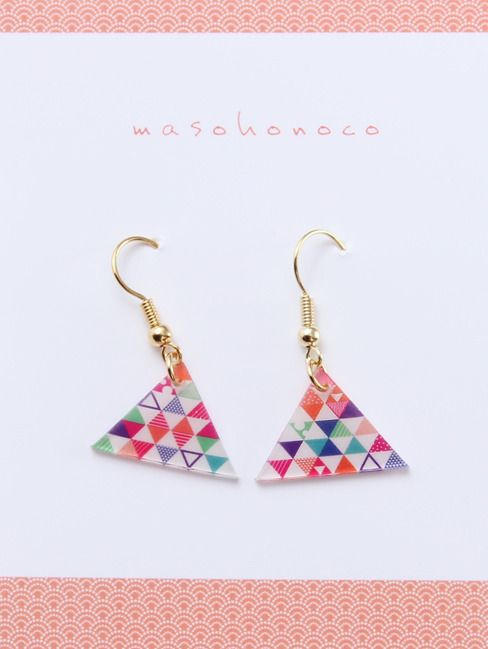 Earrings (shrink plastic)