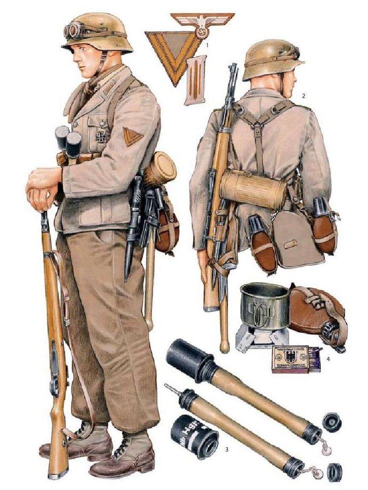 Afrikakorps, soldier.