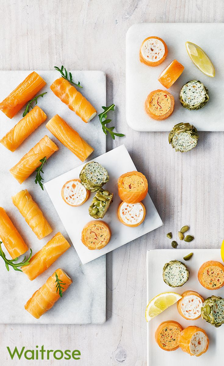 Moreish and deliciously irresistible smoked salmon rolls available from Waitrose Entertaining. Waitrose Entertaining is a food to order service available online or in store. It makes entertaining easier than ever. Find out more on our website.