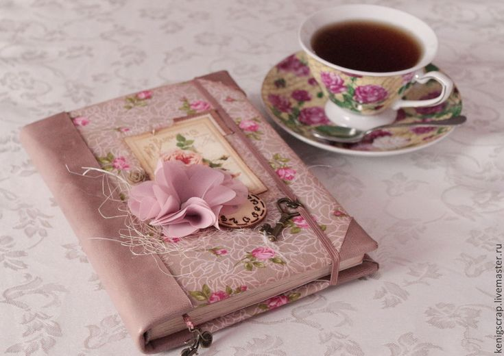 Купить Блокнот винтажный - коричневый, розовый, блокнот ручной работы, блокнот, купить блокнот