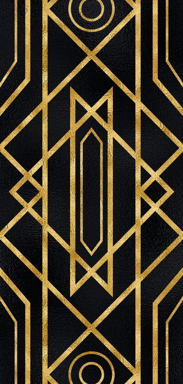 20 Art Deco Seamless Vector Patterns Art Deco Pattern Geometric