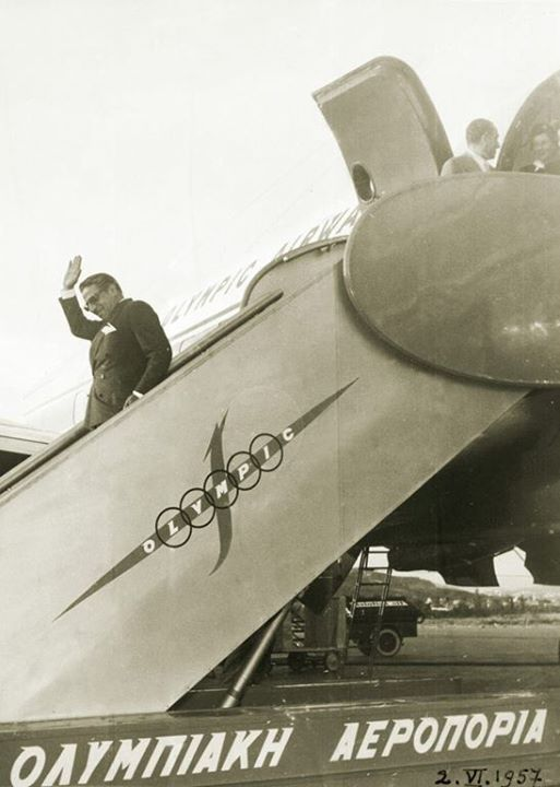 Aristotle Onassis established Olympic Airways as one of the leading airlines worldwide