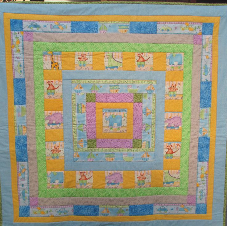 "Hand-made quilt, 100% cotton, baby boy, 38.5""x38.5"", one-of-a-kind, patchwork, quilting, patchwork quilt, elephants, baby quilt, warm quilt by LittleLarkClothing on Etsy"