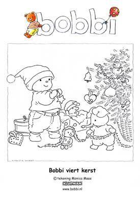 Bobbi kerstkleurplaat Monica Maas
