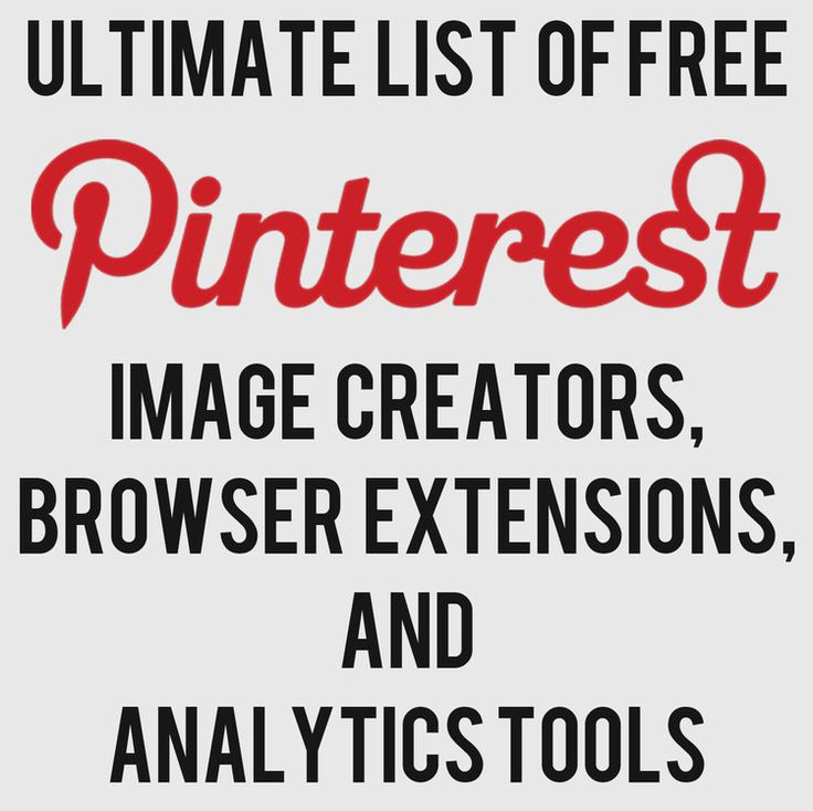 Ultimate List of FREE Pinterest Image Creator, Extensions, Analytics Tools — Andrew Macarthy | Social Media Marketing Wales |