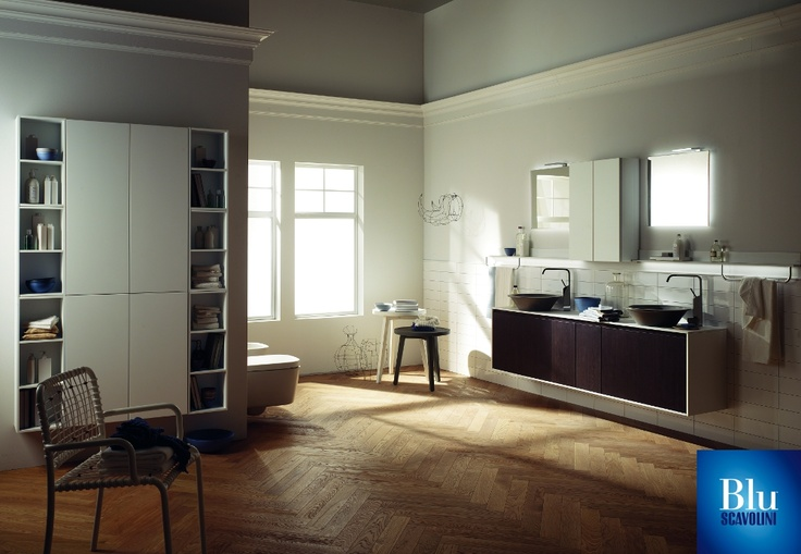 Rivo Collection. The #bathroom according to Scavolini. #BluScavolini