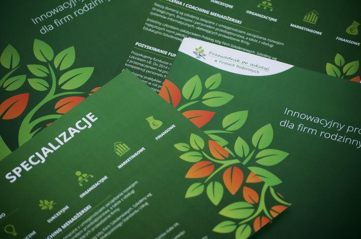 Projekt broszury dla PM Doradztwa Gospodarczego