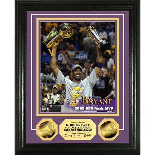 Kobe Bryant 2009 NBA Finals MVP 24KT Gold Coin Photo Mint