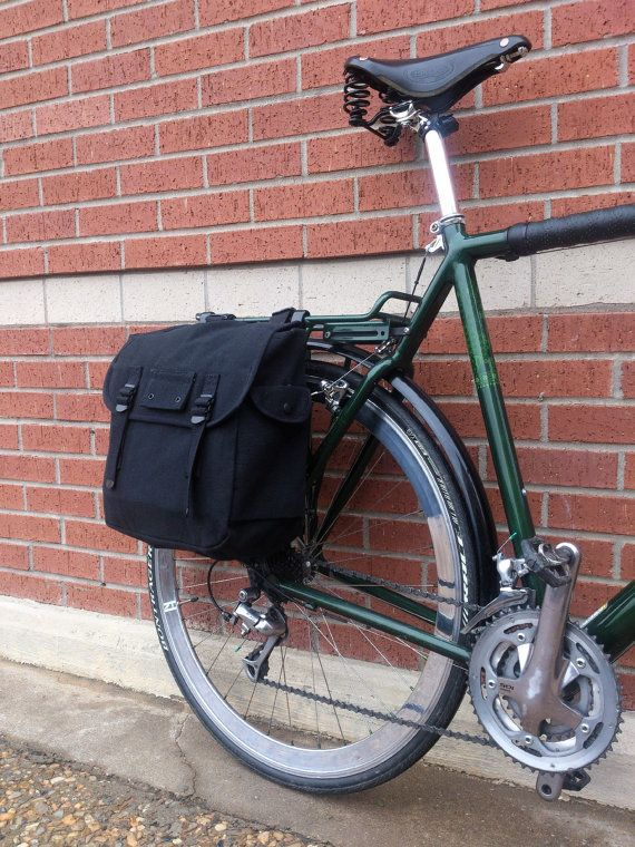Simple Large Capacity Canvas Roll-Up Bicycle Pannier